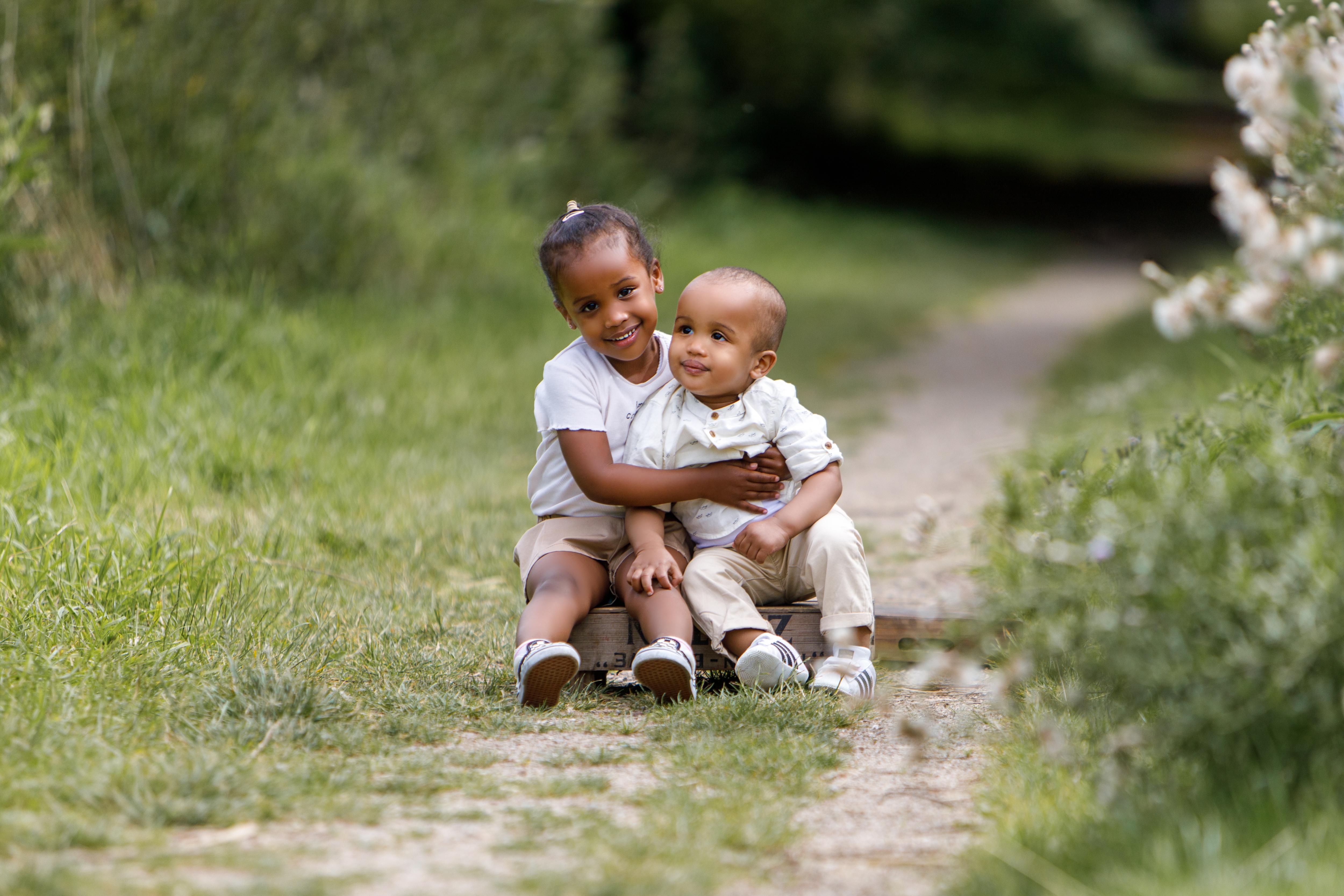gezins fotoshoot in het bos